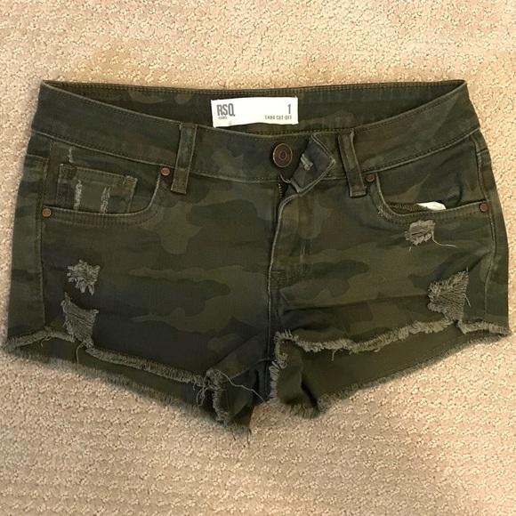 4b1169ba91 Tilly's Shorts | Rsq Jeans Womens Cabo Cutoff Camo | Poshmark